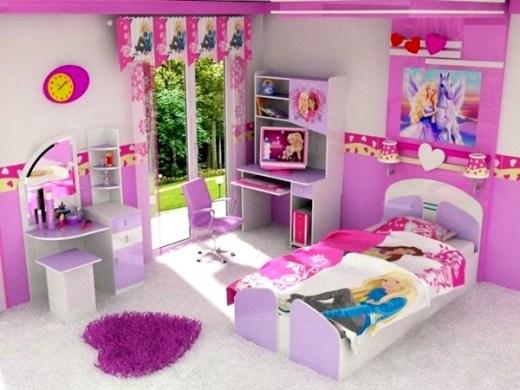 Desain Kamar Tidur Anak Perempuan Minimalis Warna Pink 7