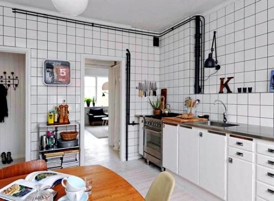 Motif Keramik Dapur Warna Putih - Pilihan Motif Keramik Lantai dan Dinding Dapur Modern Minimalis