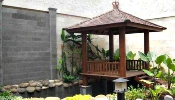 Taman rumah minimalis dengan gazebo 1 - 15 Contoh Desain Taman Rumah Minimalis Modern Terbaru 2018