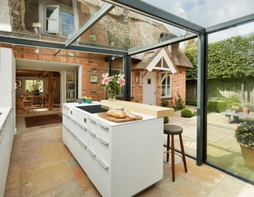 Desain Dapur Minimalis Terbuka Dekat Taman Belakang Rumah 3 - 15 Desain Dapur Minimalis Terbuka Dekat Taman Belakang Rumah