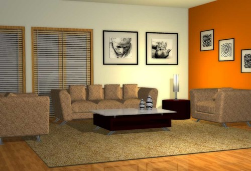Warna Cat Ruang Tamu 2 Warna 1 - 18 Warna Cat Ruang Tamu Minimalis yang Bagus Terbaru
