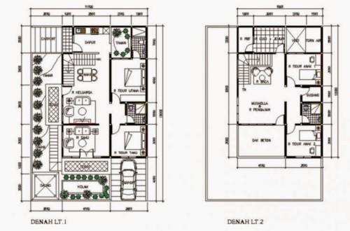11 Bentuk Rumah Sederhana Ukuran 6x9 1 2 Lantai