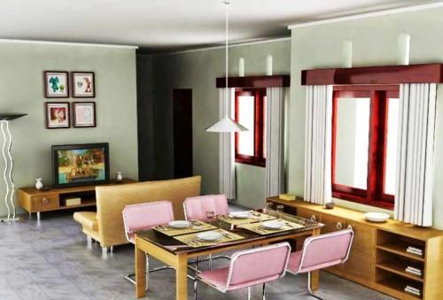 Desain Ruang Keluarga Sekaligus Ruang Makan dan Dapur 14 - 20 Desain Ruang Keluarga Sekaligus Ruang Makan dan Dapur