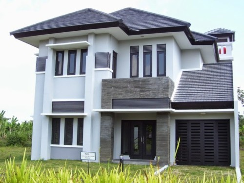 Gambar Tampak Depan Rumah Minimalis 2 Lantai Modern 3 - 35 Model Rumah Minimalis 2018 yang Banyak Diminati