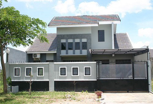 Gambar Tampak Depan Rumah Minimalis 2 Lantai Modern 6 - 21 Model Atap Rumah Minimalis Bagian Depan Terbaru 2018