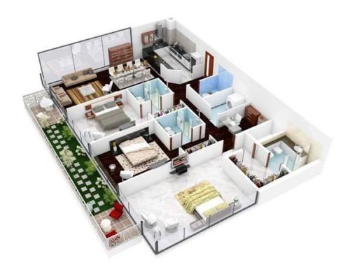 Denah Rumah Minimalis Modern Ukuran 7x9 - 10 Bentuk Denah Rumah Minimalis Sederhana Ukuran 7x9 Meter