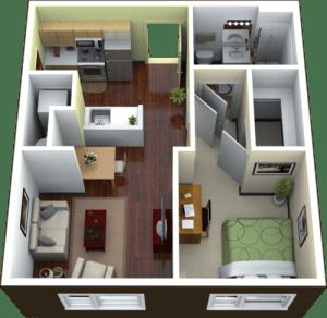 15 desain interior apartemen minimalis 1 dan 2 kamar tidur