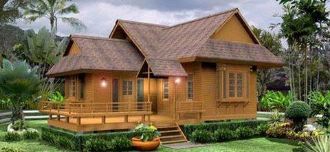 Rumah kayu klasik sederhana