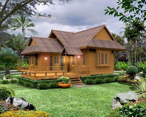 Rumah kayu klasik sederhana - 26 Desain Rumah Kayu Minimalis Sederhana Terbaru 2018