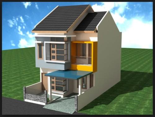 Model Rumah 2 Lantai Ukuran 6x12 Meter