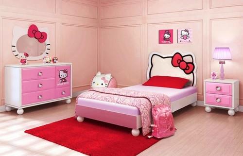 Desain Gambar Kamar Tidur Hello Kitty Anak Perempuan 10 - 25 Desain Gambar Kamar Tidur Hello Kitty Anak Perempuan