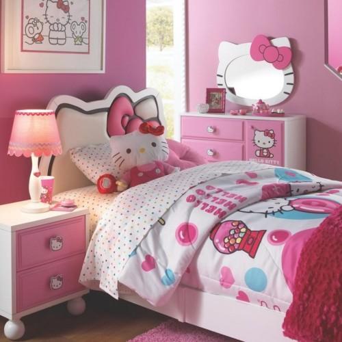 Desain Gambar Kamar Tidur Hello Kitty Anak Perempuan 9 - 25 Desain Gambar Kamar Tidur Hello Kitty Anak Perempuan