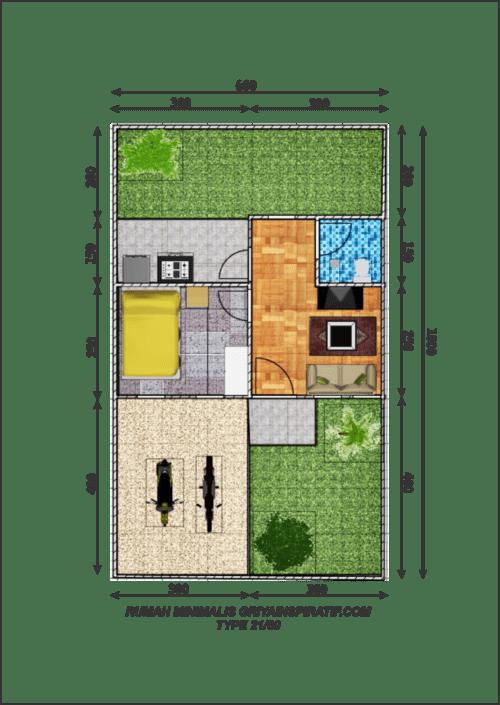 Denah Rumah Minimalis Type 21 2 - 16 Desain Rumah Minimalis Type 21 Kecil dan Mungil