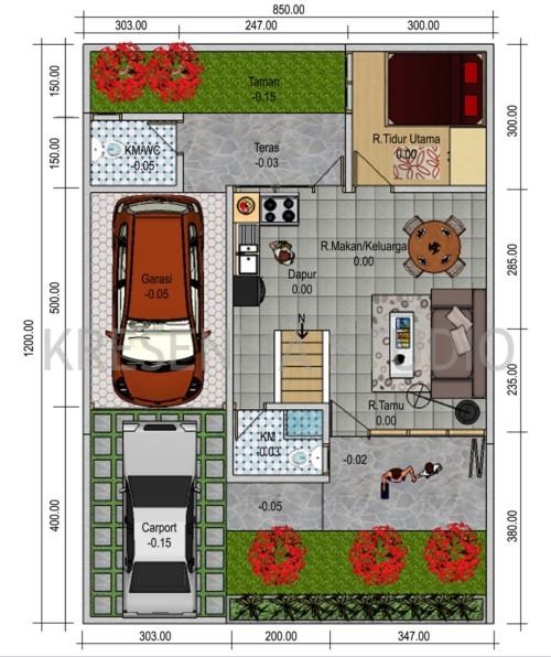 Sketsa Denah Rumah Minimalis Type 45 15 - 21 Sketsa Denah Rumah Minimalis Type 45 Terbaik