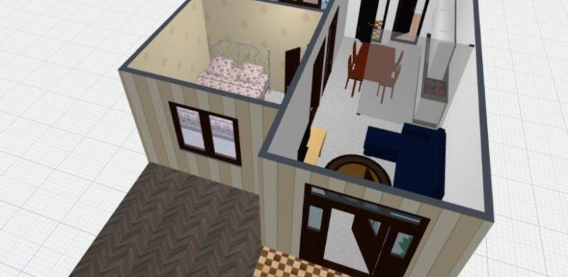 desain rumah 3D 1 e1543995462727 - 7 Langkah Mudah Buat Sendiri Denah Rumah Minimalis
