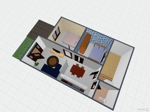 desain rumah 3D 2 - 7 Langkah Mudah Buat Sendiri Denah Rumah Minimalis