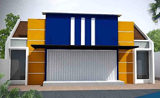 rumah toko 1 lantai tampak depan - Tips Desain Rumah dan Toko dalam Satu Bangunan 2019