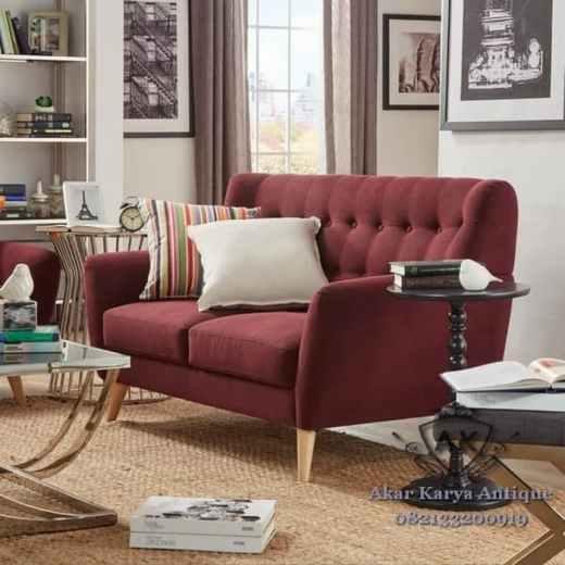 Scandinavian Sofa Minimalis Maroon - Jangan Takut Beli Sofa Minimalis Online, Ini Rahasianya!
