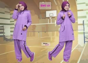 Baju Olahraga Muslimah BMS 01 Purple