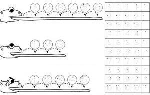 Latihan berhitung panjang lidah kadal dan menulis angka 1 10 modul
