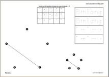 Menghubungkan titik angka 1-5 gambar bintang