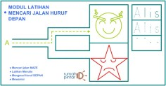 cover modul puzzle Maze huruf untuk anak