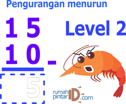 Soal latihan mandiri matematika pengurangan untuk anak SD Level 2