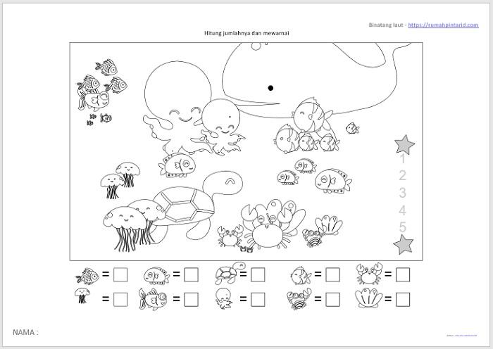 780 Koleksi Gambar Mewarnai Hewan Anak Paud Gratis Terbaru