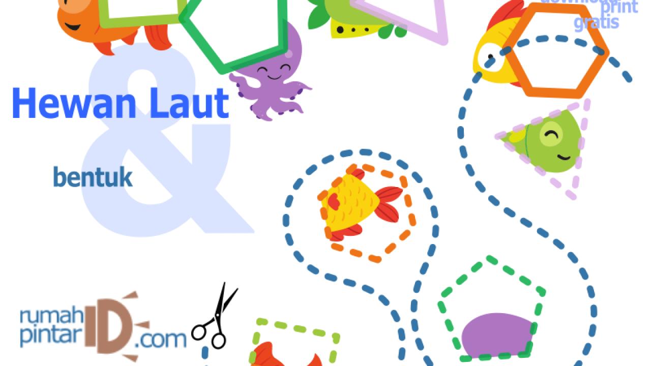 Bentuk Geometri Dasar Untuk Anak Anak Dan Hewan Laut