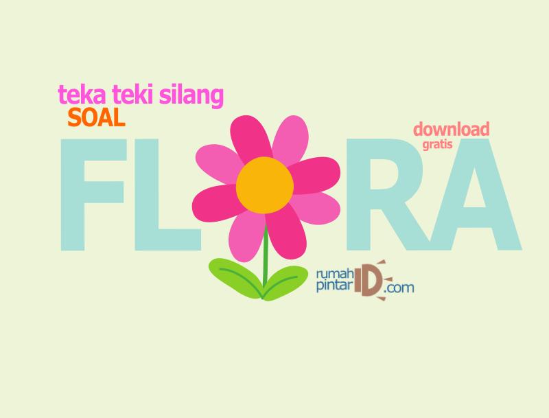 teka teki silang tema flora