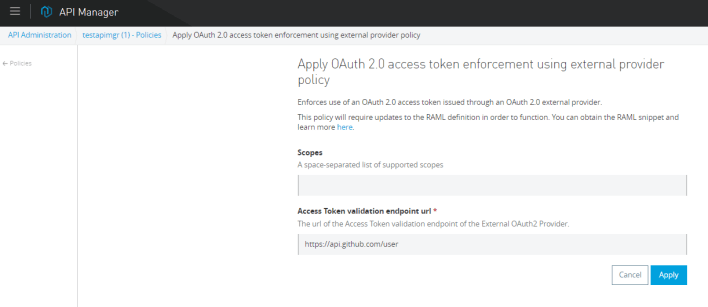 OAuth 2 Policy – MuleSoft API Manager – MuleBlogs