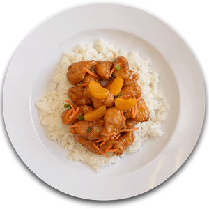 Rumbi Honey Orange Chicken Platter