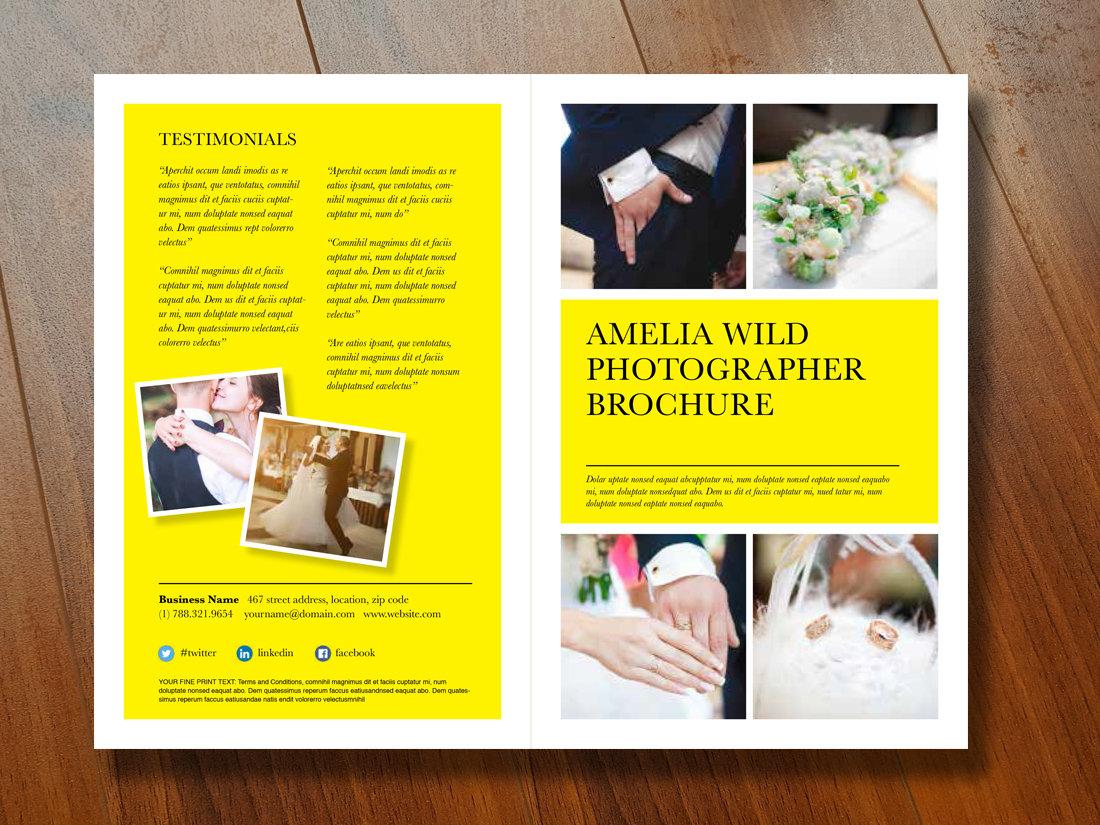 2 panel brochure template