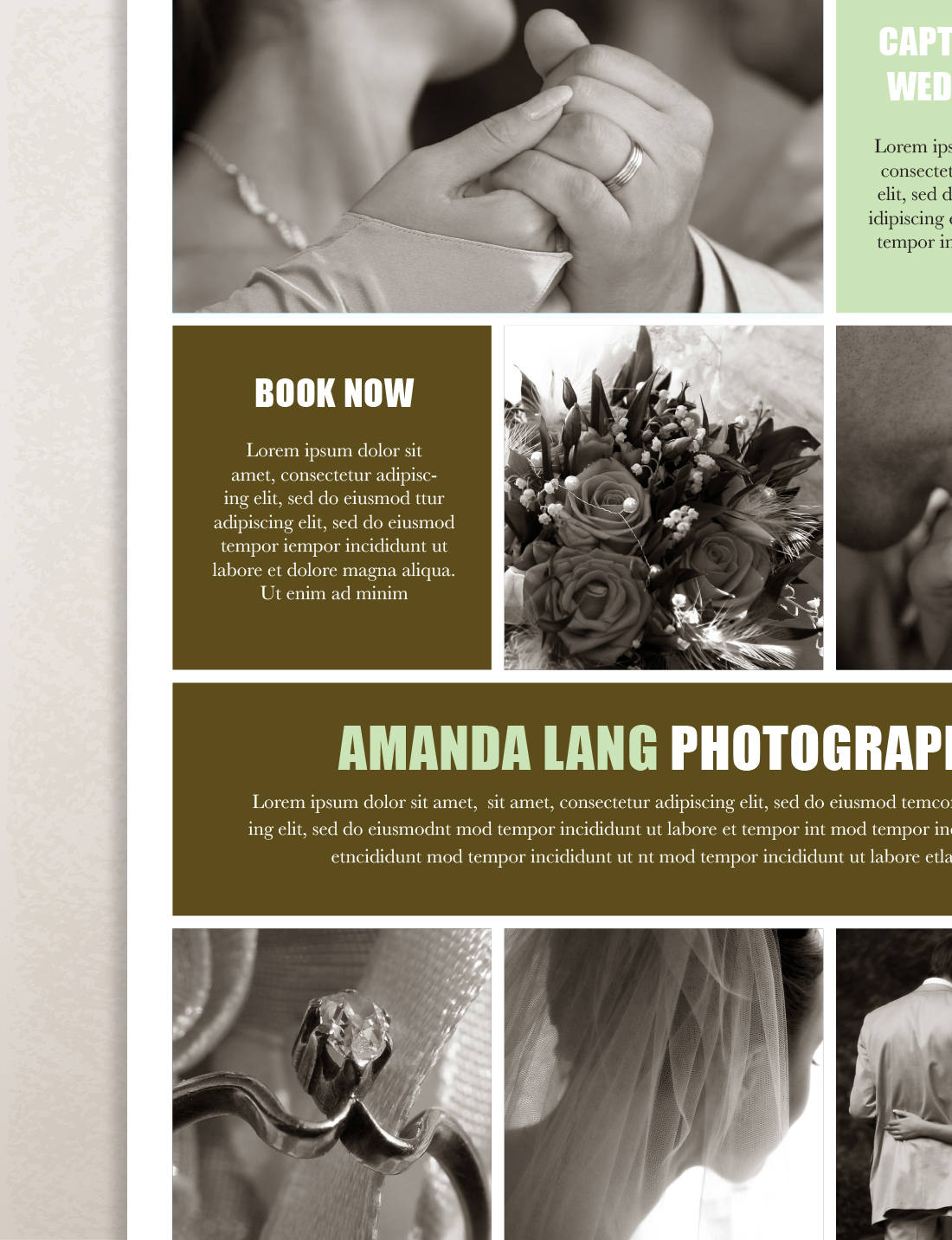 beautiful single page brochure templates psd the best collection