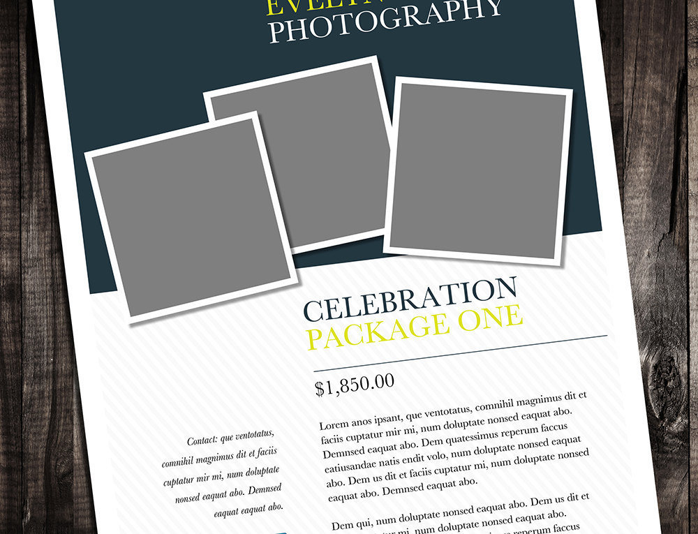 Single Page Brochure Template Minter Rumble Design Store - Printable brochure template
