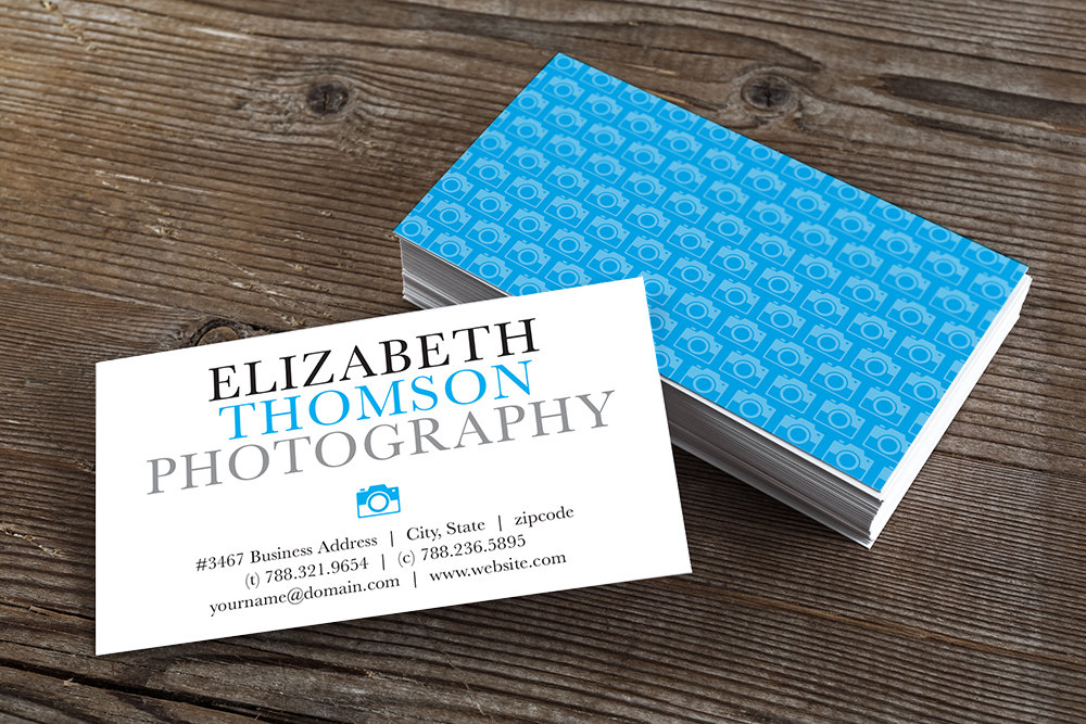 Printable business card template orion rumble design store printable consultant business card design editable template blue colourmoves