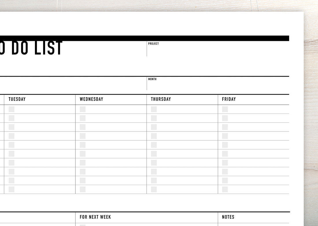 printable weekly to do list | rumble design store