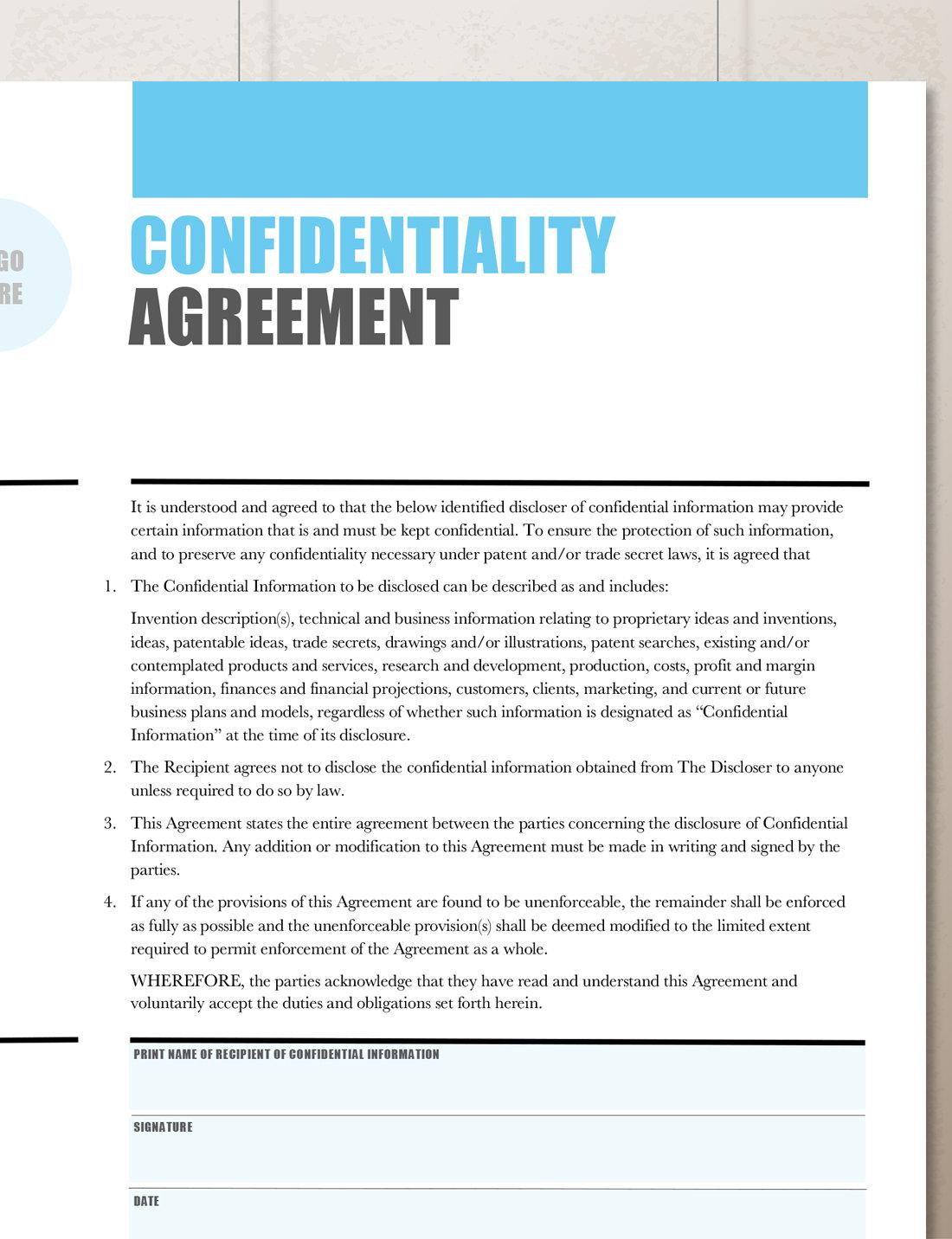 WikiLeaks Confidentiality/Non-Disclosure Agreement ...  Non Disclosure Agreement