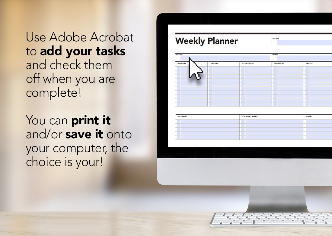 fillable weekly planner student agenda rumble design store