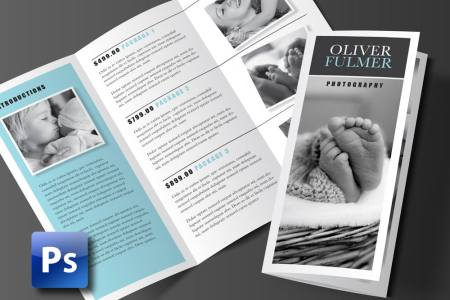 Trifold Brochure Template  Photoshop Template   Rumble Design Store Trifold Brochure Template  Photoshop Template