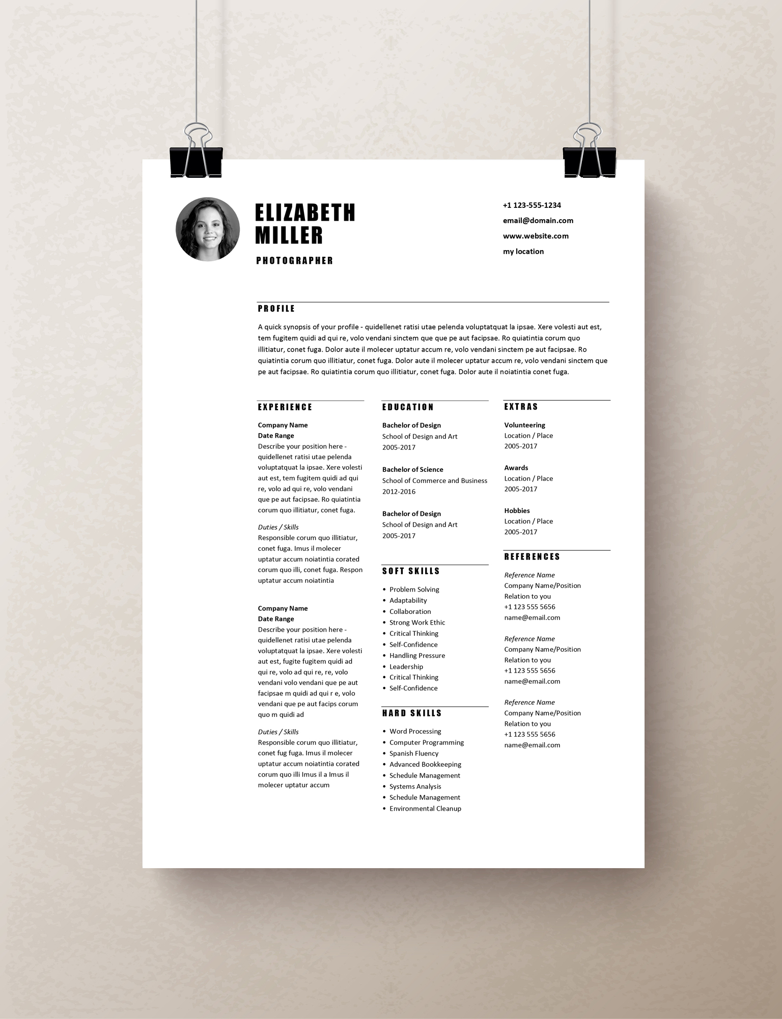 simple one page resume template hallogeocvcco one page resume