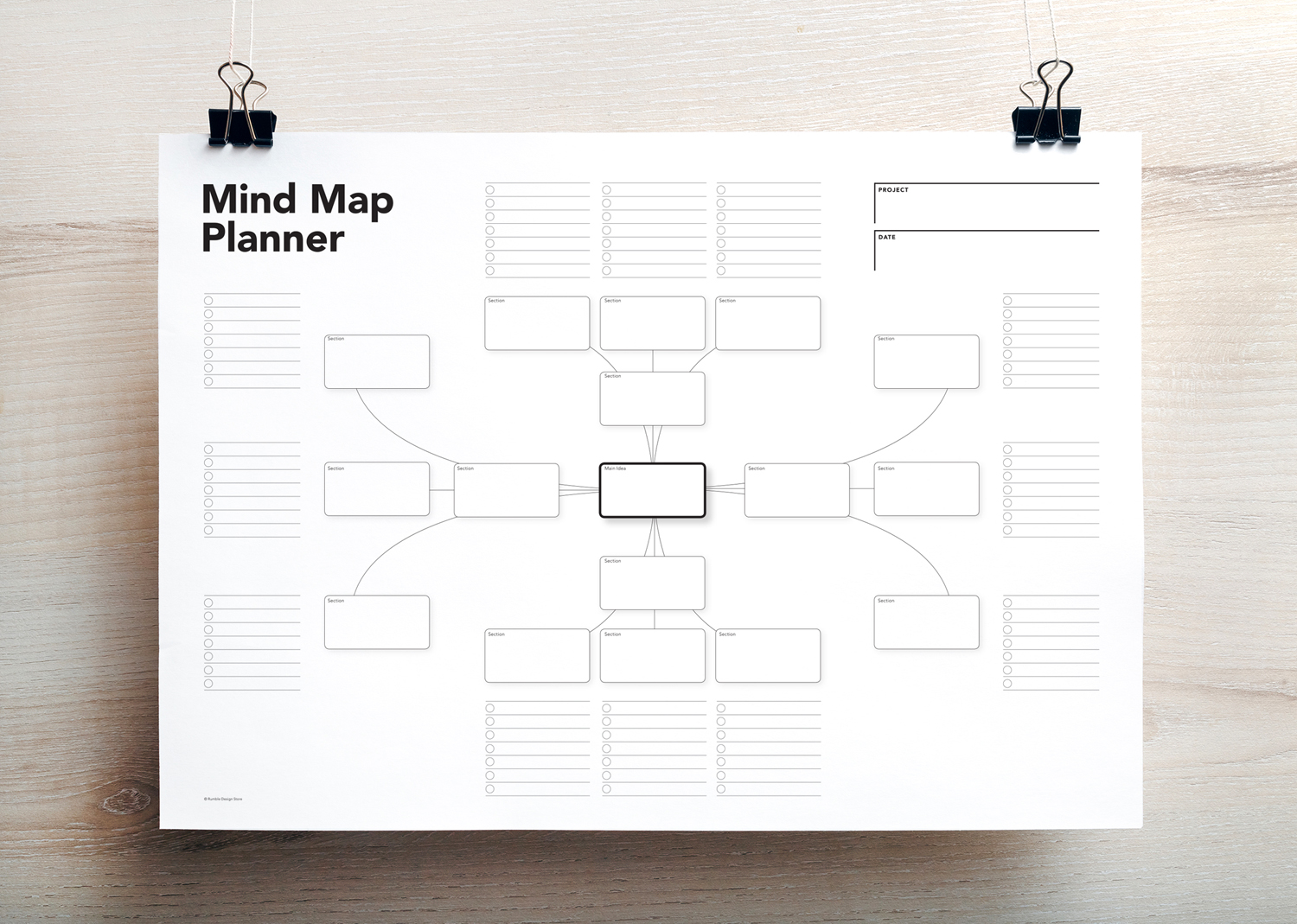 graphic regarding Printable Planner referred to as Brain Map Planner, Visible Planner