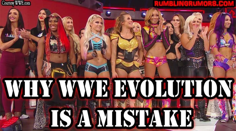 Why WWE Evolution is a Mistake