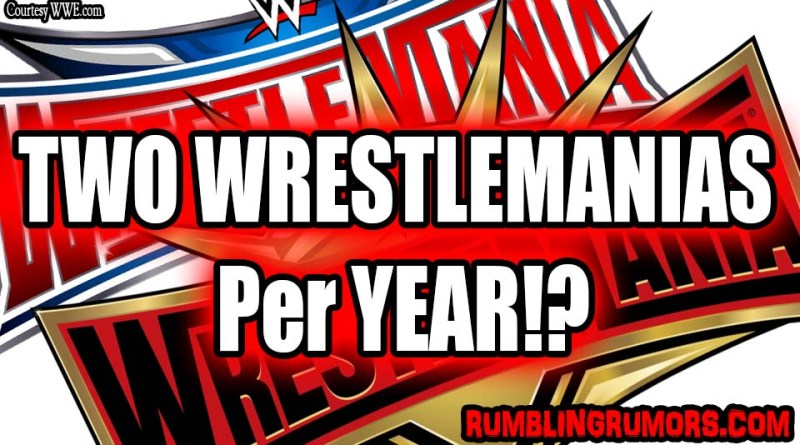 WWE Considering Doing Two WrestleMania's Per Year?