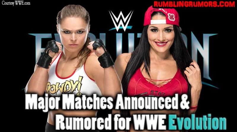 Major Matches Announced & Rumored for WWE Evolution