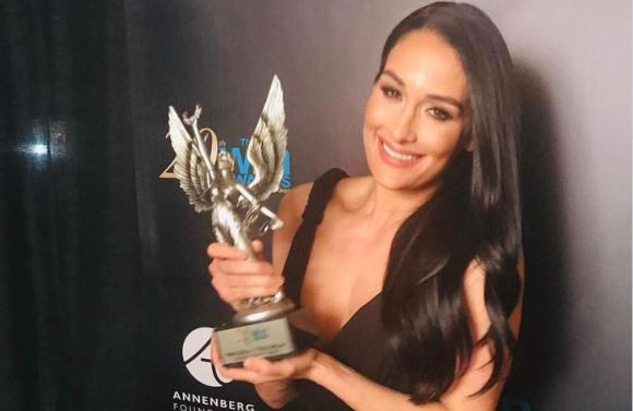 Nikki Bella Wins Best Actress In a Reality Series at the WIN Awards.