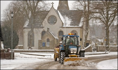 church-snow