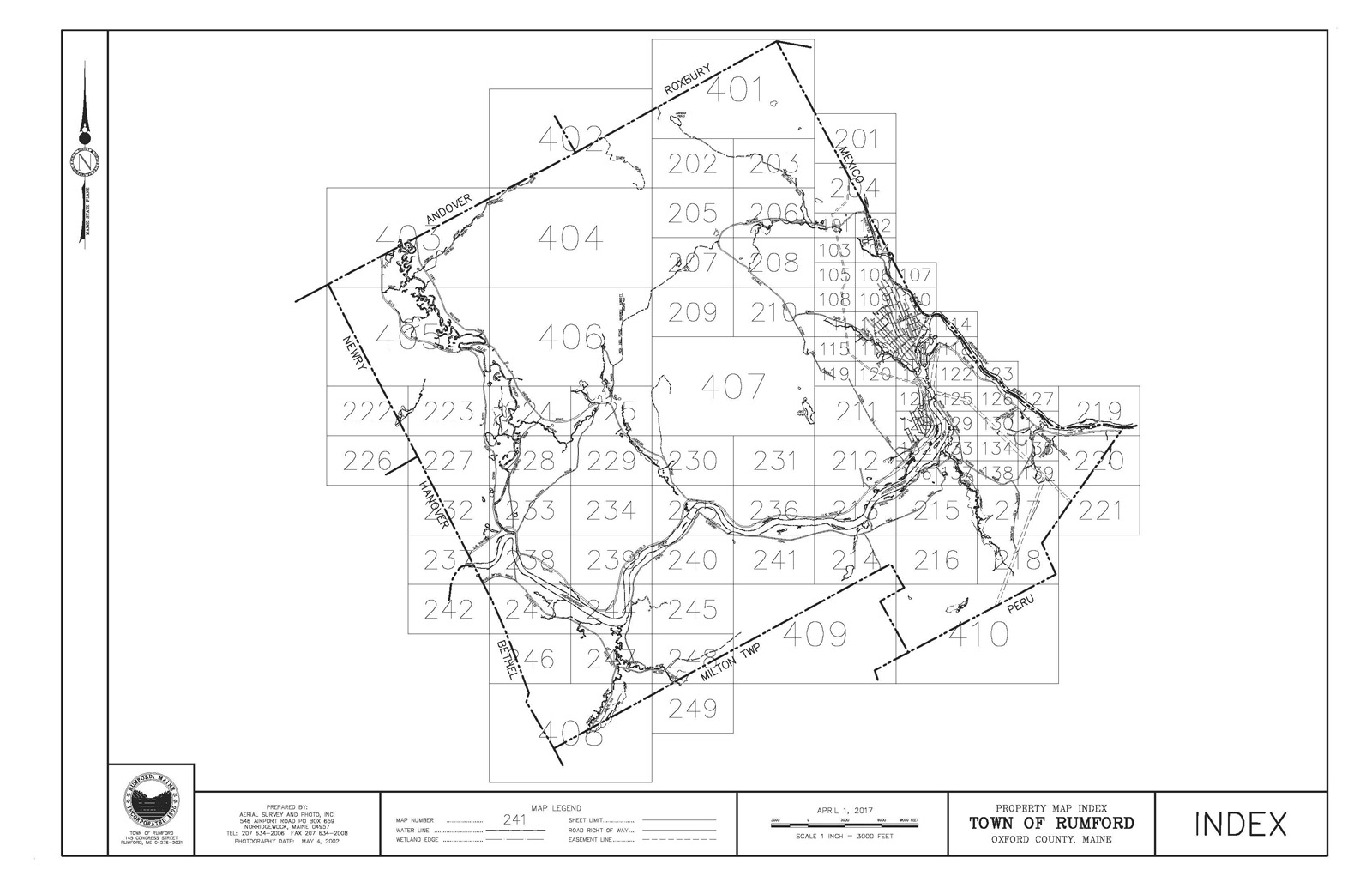Rumford Map Index 2019