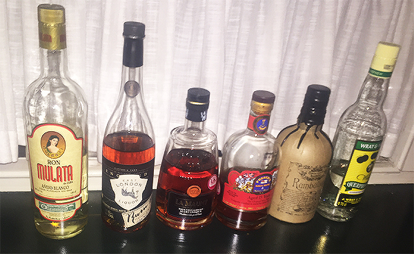 The rums we tasted