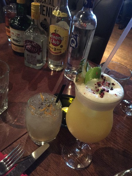A High Tea and Tropical Sour, signature cocktails using Matusalem rum